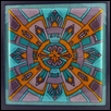 "MEDITATION -- Artist: Barb Byrne Size: 9"" x 9"" Medium: Glass Price: $350.00 ***SOLD***"