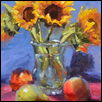 "SUNFLOWERS -- Artist: Kimbell McCurry Size: 9"" x 2"" Price: $590.00"