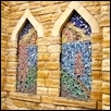 Stained Glass Windows in Church near Lindsborg. Ks