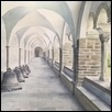 "CLOISTER -- Artist: Gregory Larson Size: 12.7"" x 8.9"" Medium: Watercolor Price: $725.00"