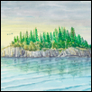 "ELLINGSON ISLAND -- Artist: Gregory Larson Size: 30"" x 20"" Medium: Watercolor Price: $900.00"