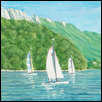 Sailing on Lac d'Annecy