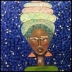 "NIGHT JOURNEY -- Artist: Sandra Johnson Size: 47"" x 36"" Medium: Mixed Media Price: $450.00"