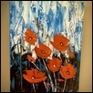 "ORANGE POPPY SERIES -- Artist: Greg Jones Size: 18"" x 24"" Medium: Acrylic Price: $500.00"
