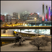 Kansas City With Fog And Snow