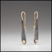"DIAMOND RAINDROP EARRINGS -- Artist: Nichole Collins Size: 1 1/2"" Medium: Fiber, Jewellry/Wearable Art Price: $490.00"