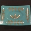 Turquoise Plate with Organic Designs