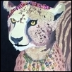"QUEEN CHEETAH -- Artist: Merdis Watts Size: 16"" x 20"" Medium: Acrylic Price: $600.00"