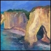 "NORMANDY CLIFFS -- Artist: Sheila Jewell Size: 11"" x 14"" Price: $400.00"