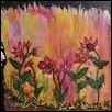 "FLOWERS AT SUNRISE -- Artist: Nan Renbarger Size: 8"" x 8"" Medium: Mixed Media Price: $95.00 ***SOLD***"