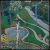 "GIFT OF LIFE FOUNTAIN AT STOWERS INSITUTE FOR MEDICAL RESEARCH -- Artist: Paula Winchester Size: 19"" x 25"" Medium: Pastel Price: $200.00"
