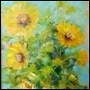 "SUNFLOWERS -- Artist: Sandy Braga Size: 9"" x 12"" Medium: Oil Price: $275.00"
